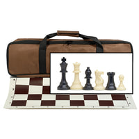 BROWN TOURNAMENT CHESS SET