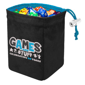 GAMES & STUFF 20TH ANNIVERSARY DICE BAG