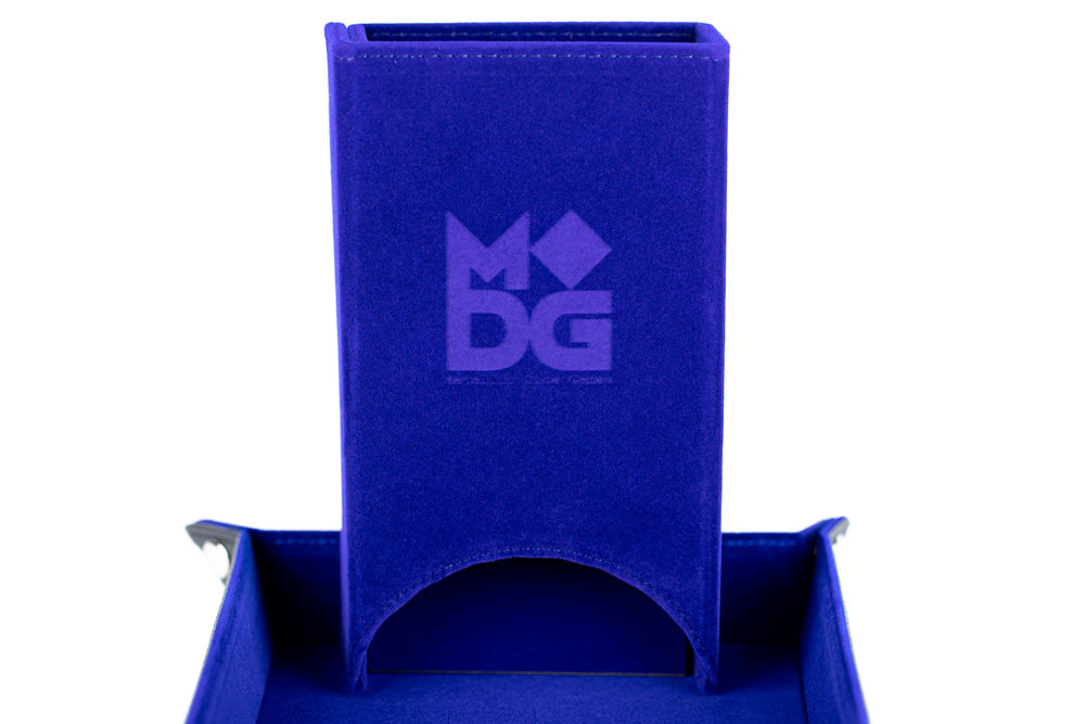 METALLIC DICE GAMES: DICE TOWER- BLUE