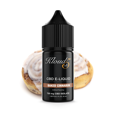 KLOUD5 CBD By Nelly Baked Cinnabun CBD Vape Juice, CBD E-Juice, CBD Vape Liquids 30mL bottle, 750 mg CBD isolate per bottle,
