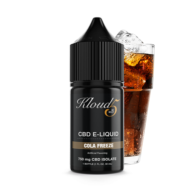 KLOUD5 CBD By Nelly Cola Freeze CBD Vape Juice, CBD E-Juice, CBD Vape Liquids 30mL bottle, 750 mg CBD isolate per bottle,