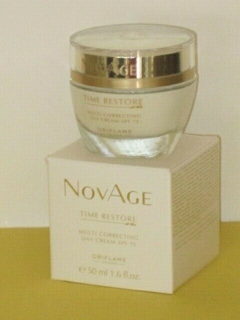 ORIFLAME SWEDEN NOVAGE TIME RESTORE MULTI CORRECTING DAY CREAM SPF 15- 50 ml.NEW