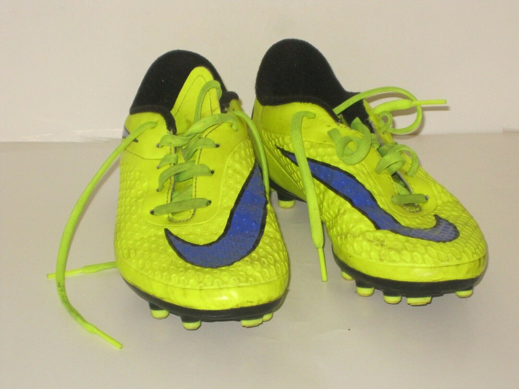 NIKE HYPERVENOM BOYS' ATHLETIC SOCCER SHOES SIZE 5 Y -BRIGHT YELLOW -PREOWNED!