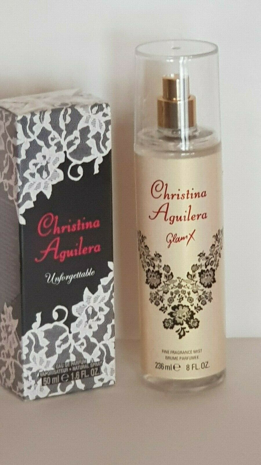CHRISTINA AGUILERA SET X 2 ITEMS (UNFORGETTABLE EDP SP 50 ml.+GLAM X MIST) NEW