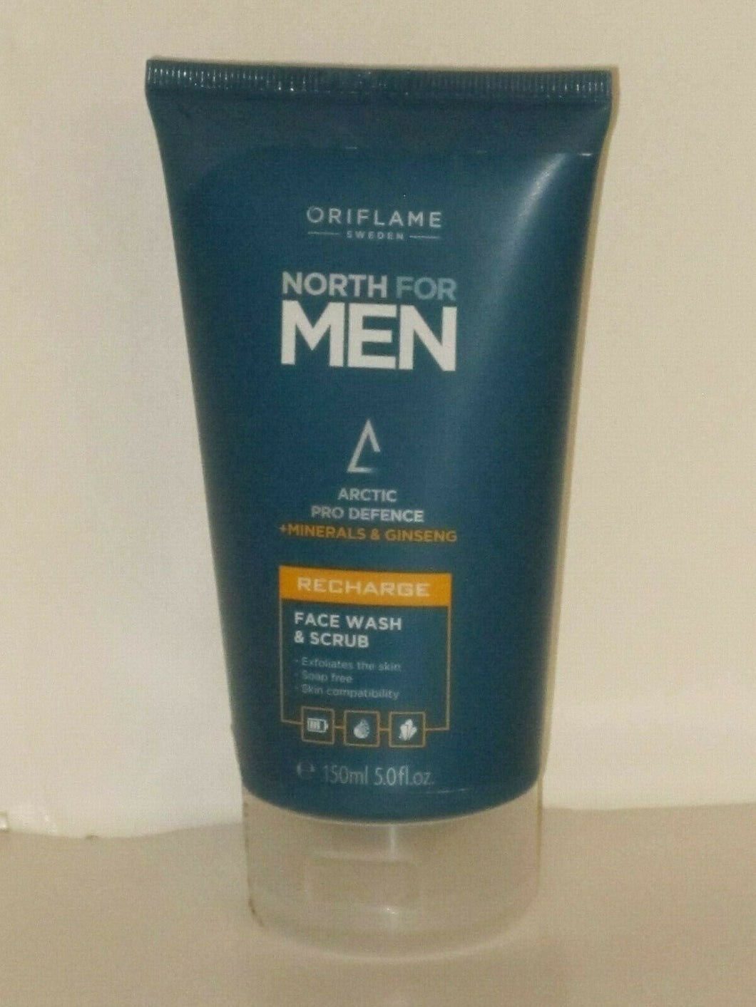 ORIFLAME SWEDEN NORTH FOR MEN FACE WASH & SCRUB 150 ml./ 5 fl.oz. NEW!