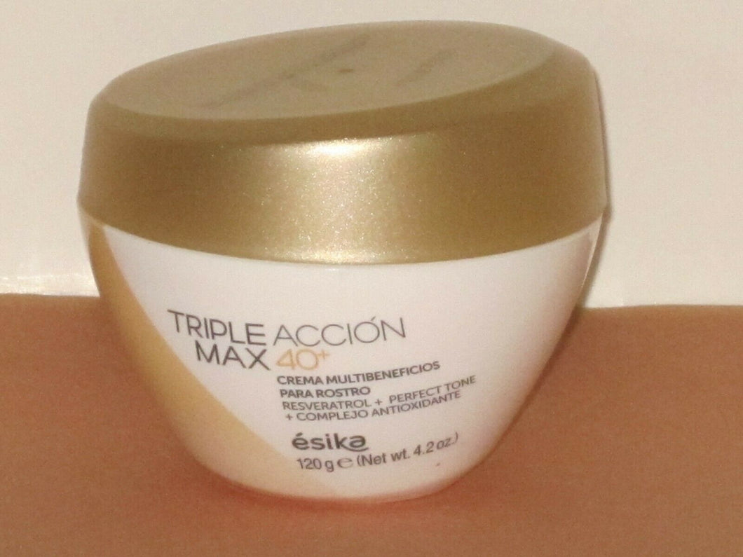 ESIKA TRIPLE ACCION MAX 40+ MULTI-BENEFIT FACE CREAM 120 g./ 4.2 oz. NEW!!