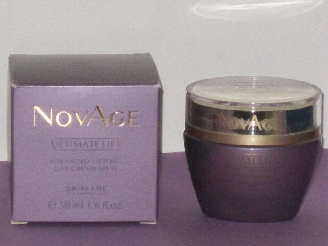 ORIFLAME SWEDEN NOVAGE ULTIMATE LIFT ADVANCED LIFTING DAY CREAM SPF 15- 50ml.NEW