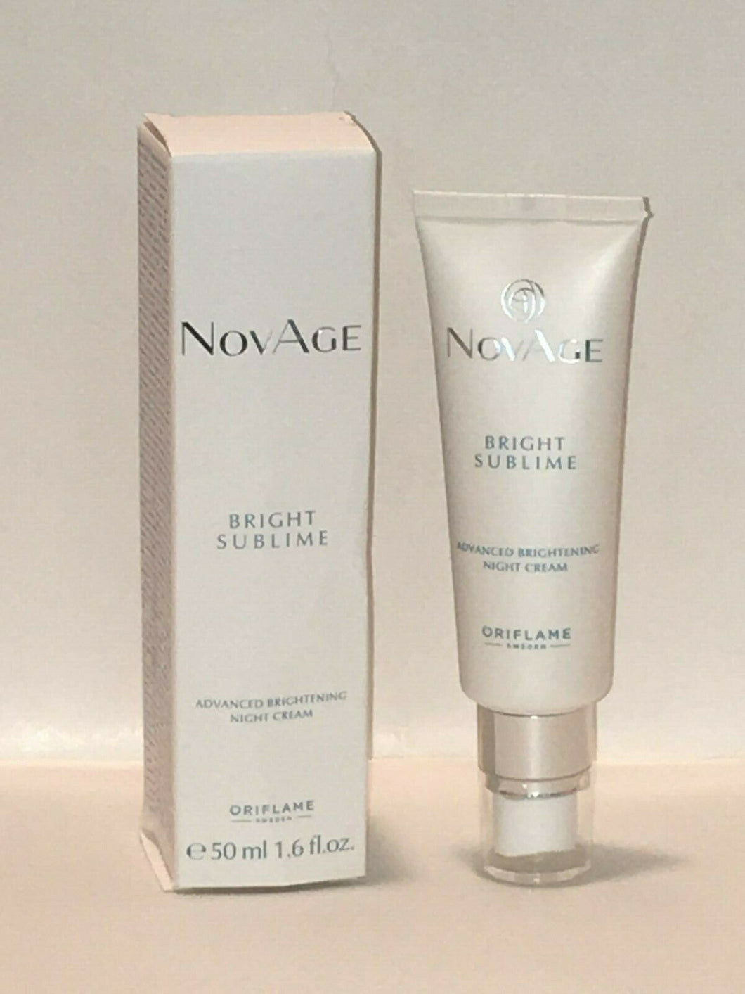ORIFLAME SWEDEN NOVAGE BRIGHT SUBLIME ADV BRIGHTENING NIGHT CREAM 50 ml.NEW