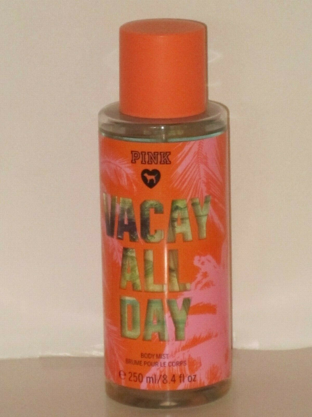 VICTORIA'S SECRET PINK VACAY ALL DAY (ORCHID & SANDALWOOD) BODY MIST 250 ml.NEW!