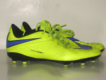 Load image into Gallery viewer, NIKE HYPERVENOM BOYS' ATHLETIC SOCCER SHOES SIZE 5 Y -BRIGHT YELLOW -PREOWNED!