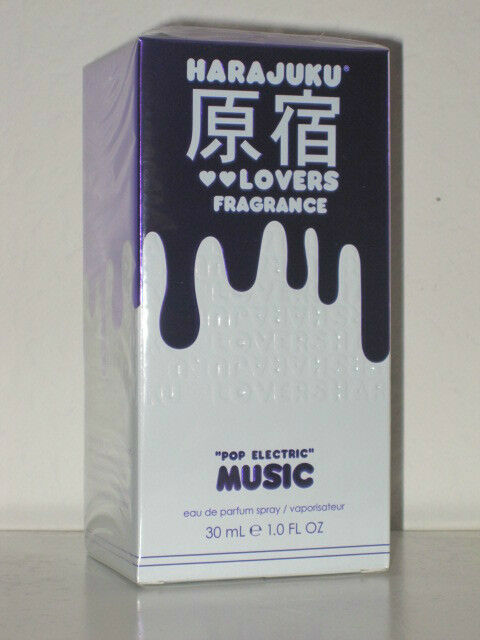 HARAJUKU LOVERS FRAGRANCE *POP ELECTRIC* MUSIC** EDP SPRAY 1oz/30ml SEALED-NEW