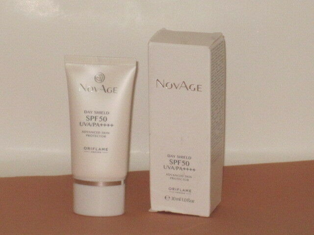 ORIFLAME SWEDEN NOVAGE DAY SHIELD SPF 50 UVA/PA ADVANCED SKIN PROTECTOR 30ml.NEW