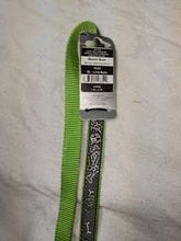 Load image into Gallery viewer, Dog Lead - Lime green with dog bone design, Large 1.4m / 4.7ft