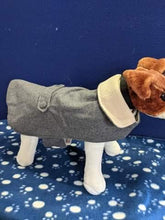 Load image into Gallery viewer, Dog Coat - Smart grey fleece coat, 16 inches