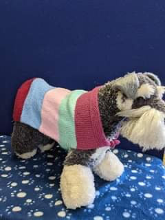 Dog Jumper - Multi-colour Strip Jumper, 18 Inches