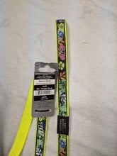 Load image into Gallery viewer, Dog Lead - Flourescent Yellow with flowers, 1.4m / 4.7ft