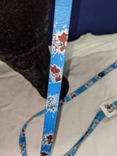 Load image into Gallery viewer, Dog Lead - Sky Blue with cartoon dog design, Medium 1.8m, 6ft