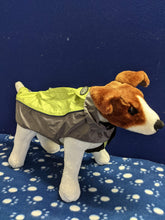 Load image into Gallery viewer, Dog Coat - Buster Outdoor Raincoat Rock, Grey & Green, Medium, 39cm