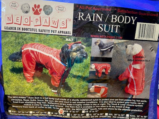 Dog Rain / Body Suit by Neopaws - In Black - various sizes
