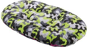 Dog Bed - Sofa Cushion in Green/Black and Grey, Size 8 - LOCAL DELIVERY OR COLLECTION ONLY