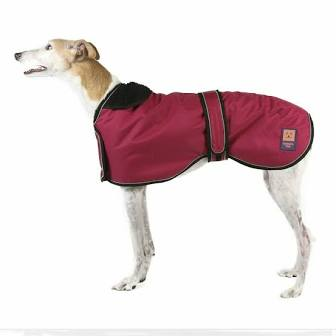 Dog Coat - Shower Greyhound Coat in Cherry Red, 18
