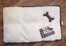 Load image into Gallery viewer, Dog Bed - Brand New Memory Foam in Cream/White/Brown - COLLECTION ONLY