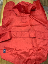 "Load image into Gallery viewer, Dog Coat - Red Dog Raincoat, Size Large 18"" to 20"""