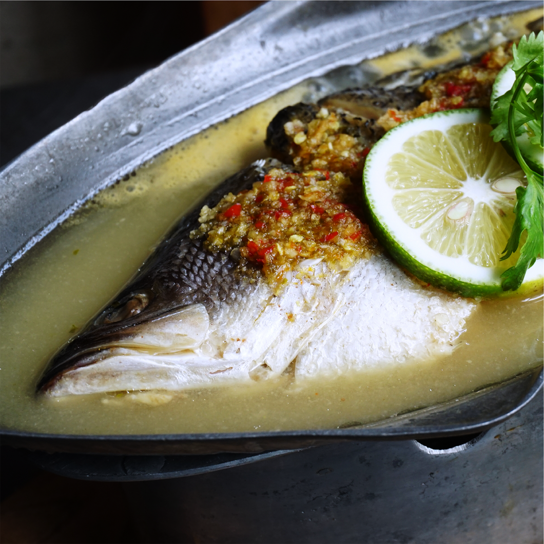 Steamed Seabass with Lime Sauce