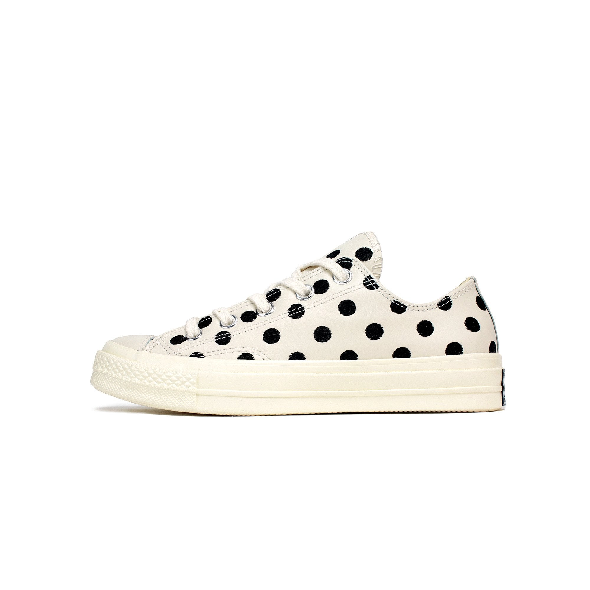 87ed03f9d342 Details about Men s Converse Chuck Taylor All Star 70s Ox Polka Dot  Parchment Black 155460C