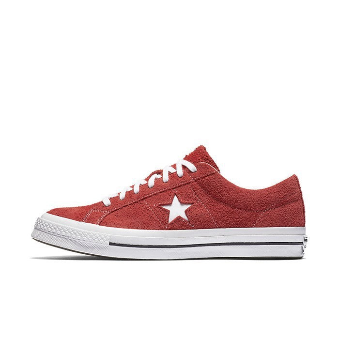 139ca314b315 Details about Mens Converse One Star Ox Low Suede Red White 158434C
