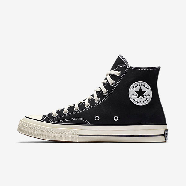 Details about Mens Converse Chuck Taylor All Star 70 High Top Black Egret White 162050C