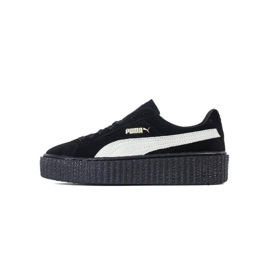 separation shoes 90324 1a966 Details about Mens Puma x Fenty By Rihanna Creeper Suede Black Star White  362178-01
