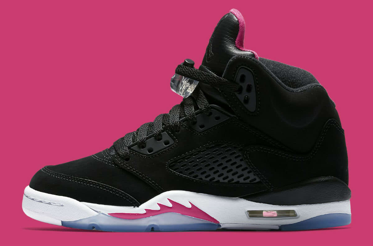 5e14f046e002 Details about Kids Air Jordan 5 V Retro GS Deadly Pink Black White  440892-029