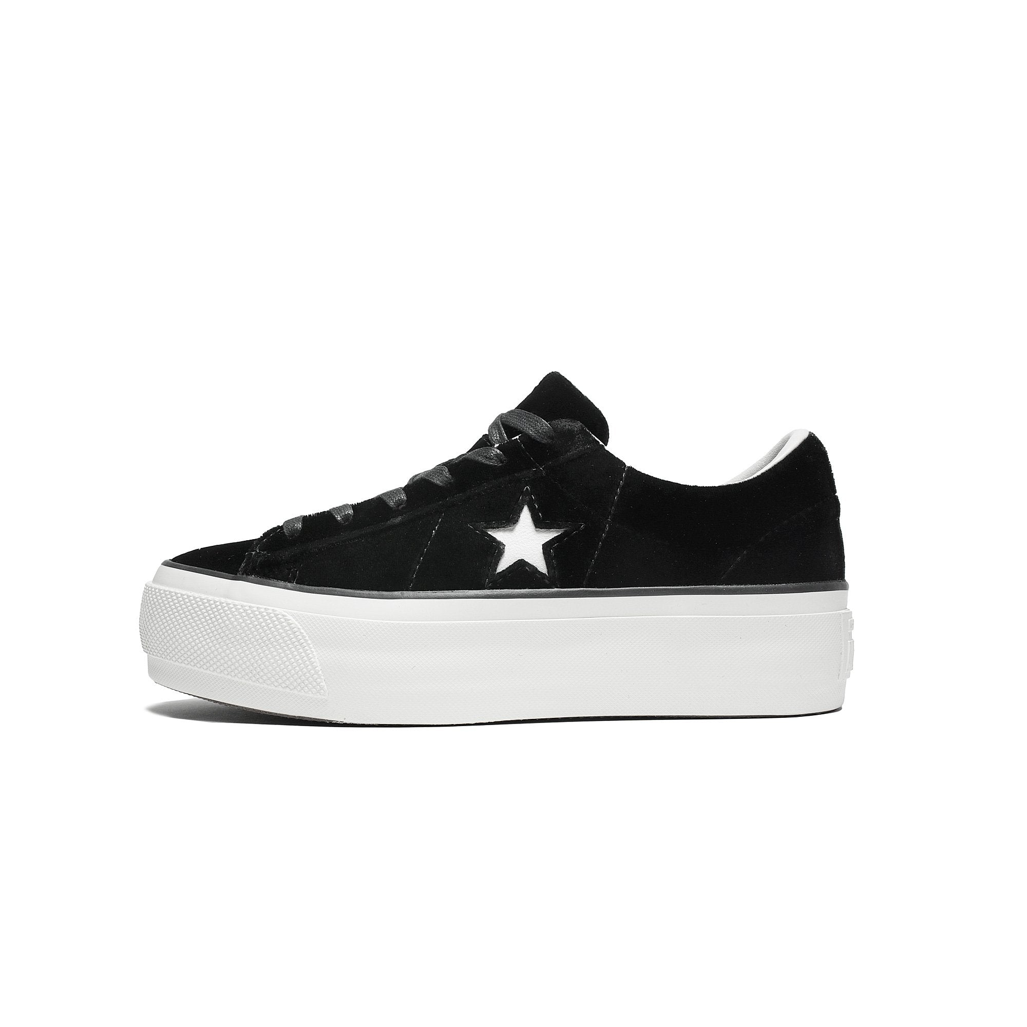 One Star Platform OX Zapatillas negro-blanco Converse