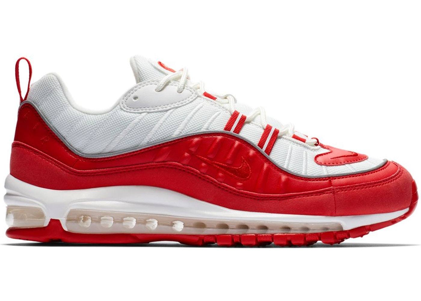 b8042135e9 Details about Mens Nike Air Max 98 University Red White 640744-602