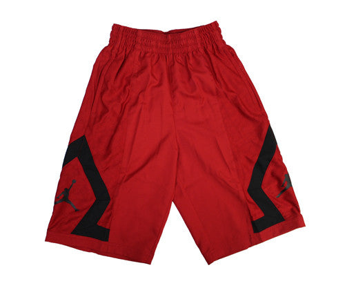 5ab21d6e449945 Mens Jordan Flight Diamond Rise Shorts Red Black 799547-687