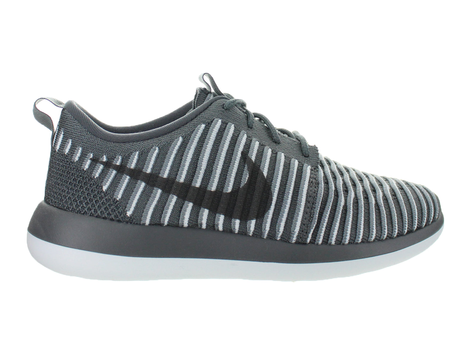 release date 400ad 8c075 Womens Nike Roshe Two Flyknit Dark Grey Pure Platinum 844929-002