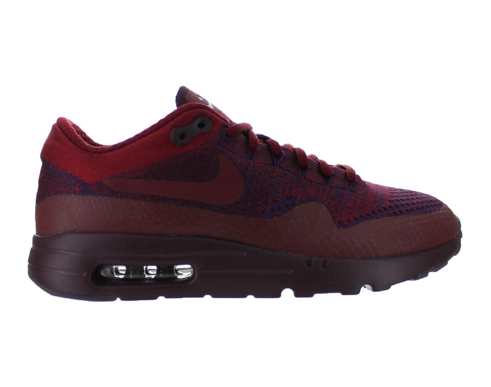 88c784c46aad Mens Nike Air Max 1 Ultra Flyknit Deep Burgundy Grand Purple Team Red  856958-566