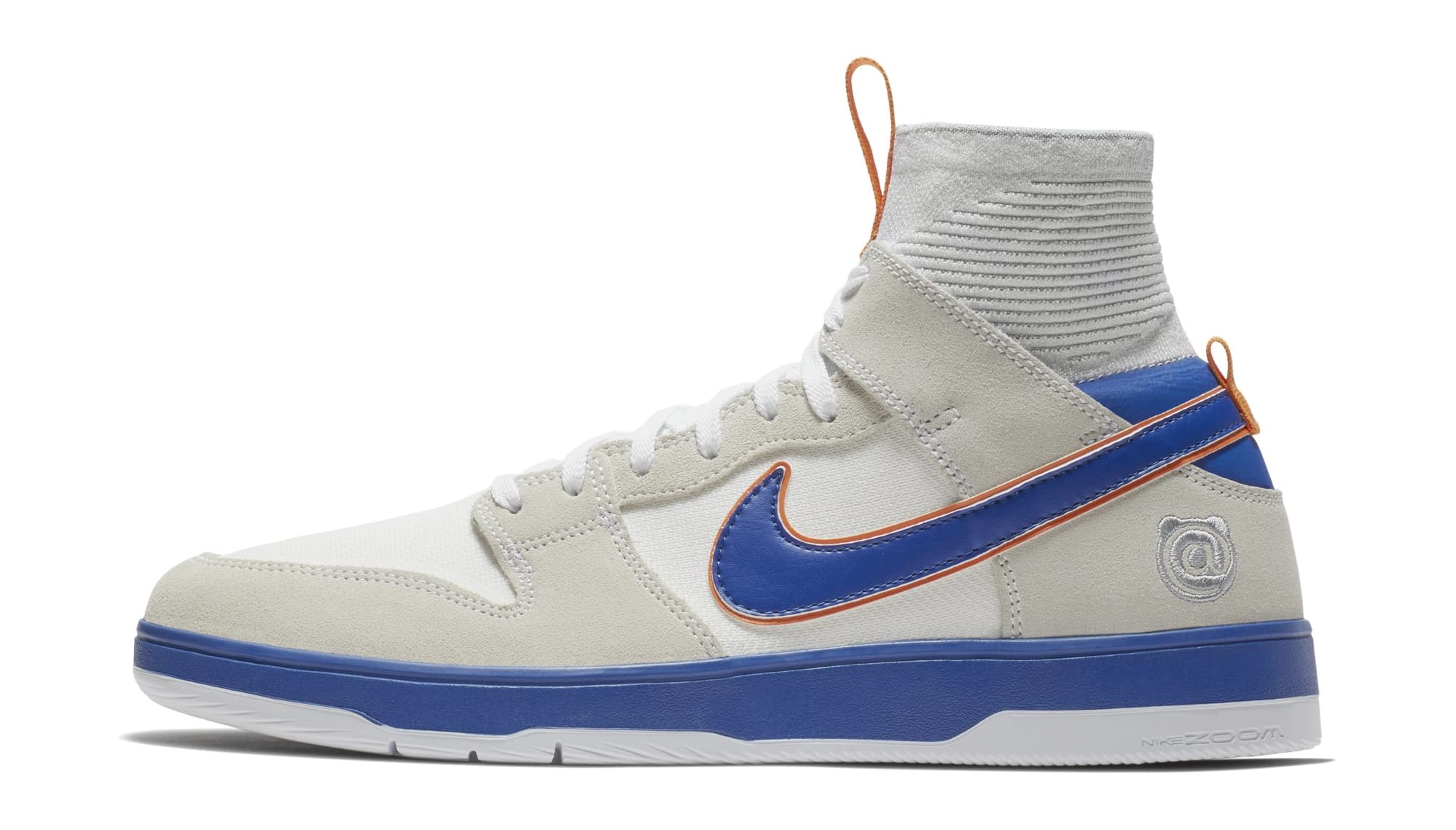 reputable site 5a4ac 2eb9e Nike x Medicom SB Zoom Dunk Elite High Bearbrick White College Blue 918287- 147
