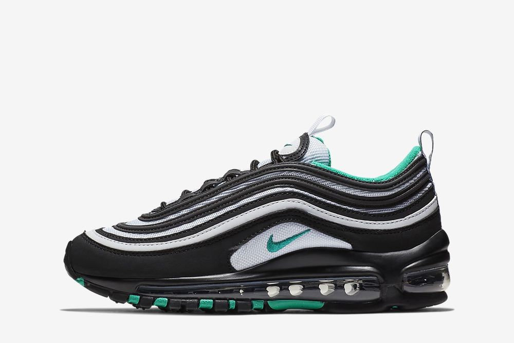 feb57f6836 Kids Nike Air Max 97 GS Clear Emerald Black White 921522-006 | eBay