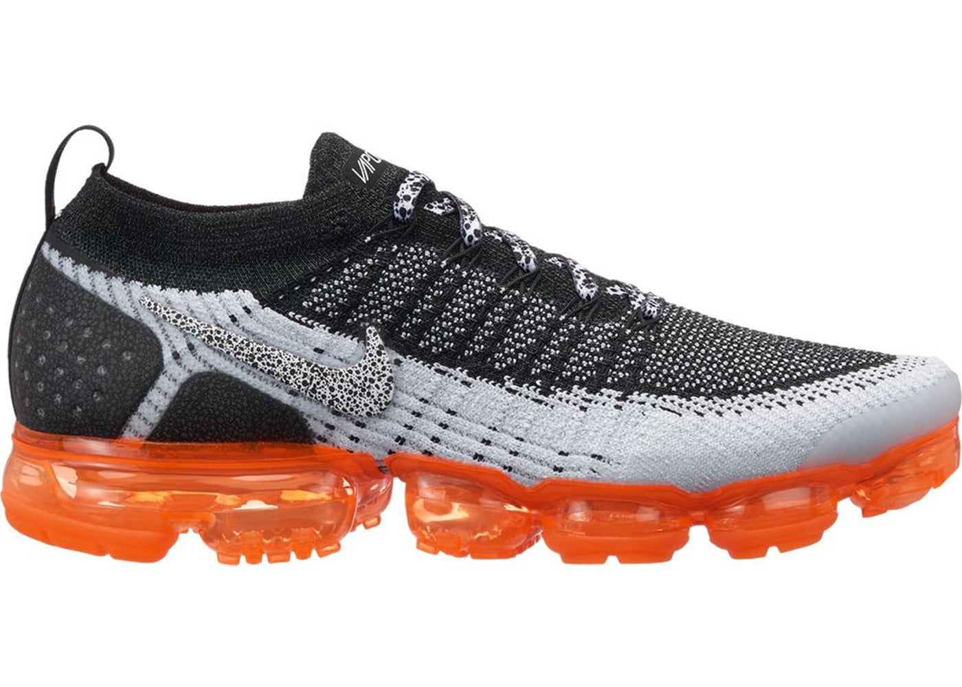 pretty nice e2d9a 54751 Details about Mens Nike Air VaporMax Flyknit 2 Safari White Black Total  Orange 942842-106