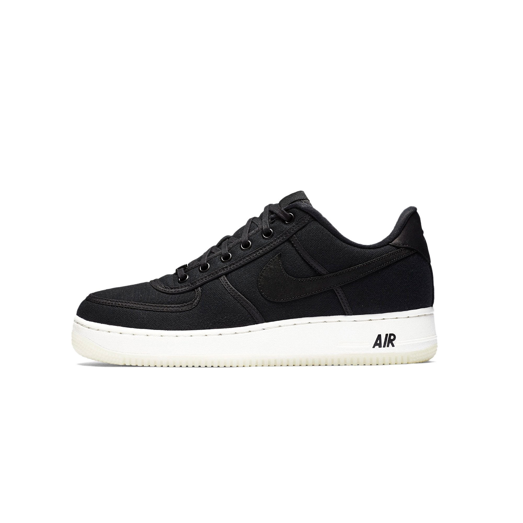 5e5c40127fd Details about Mens Nike Air Force 1 Low Retro QS Canvas Black Summit White  AH1067-004