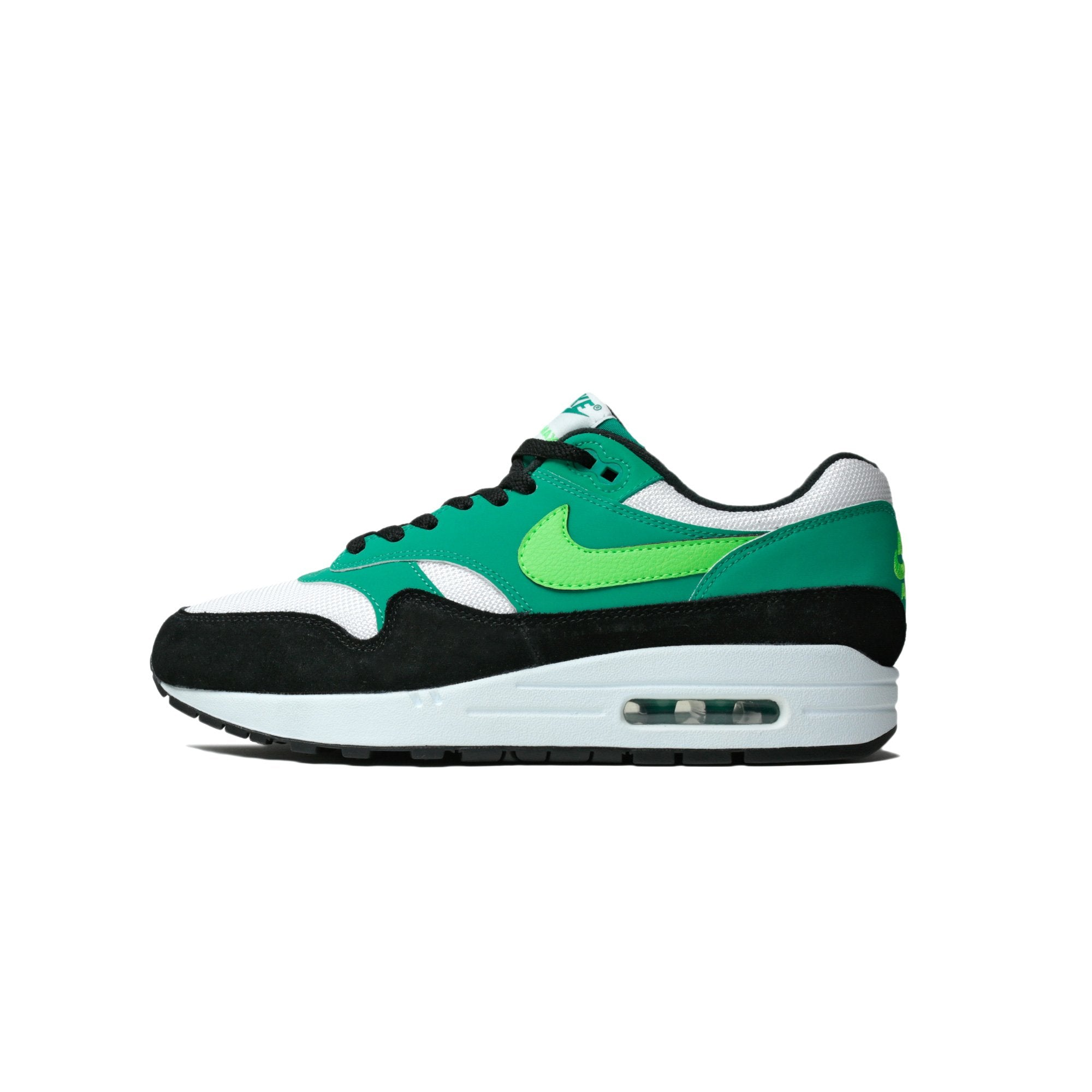 hot sale online f4eed 6e69c Details about Mens Nike Air Max 1 Neptune Green White Green Strike Black  AH8145-107