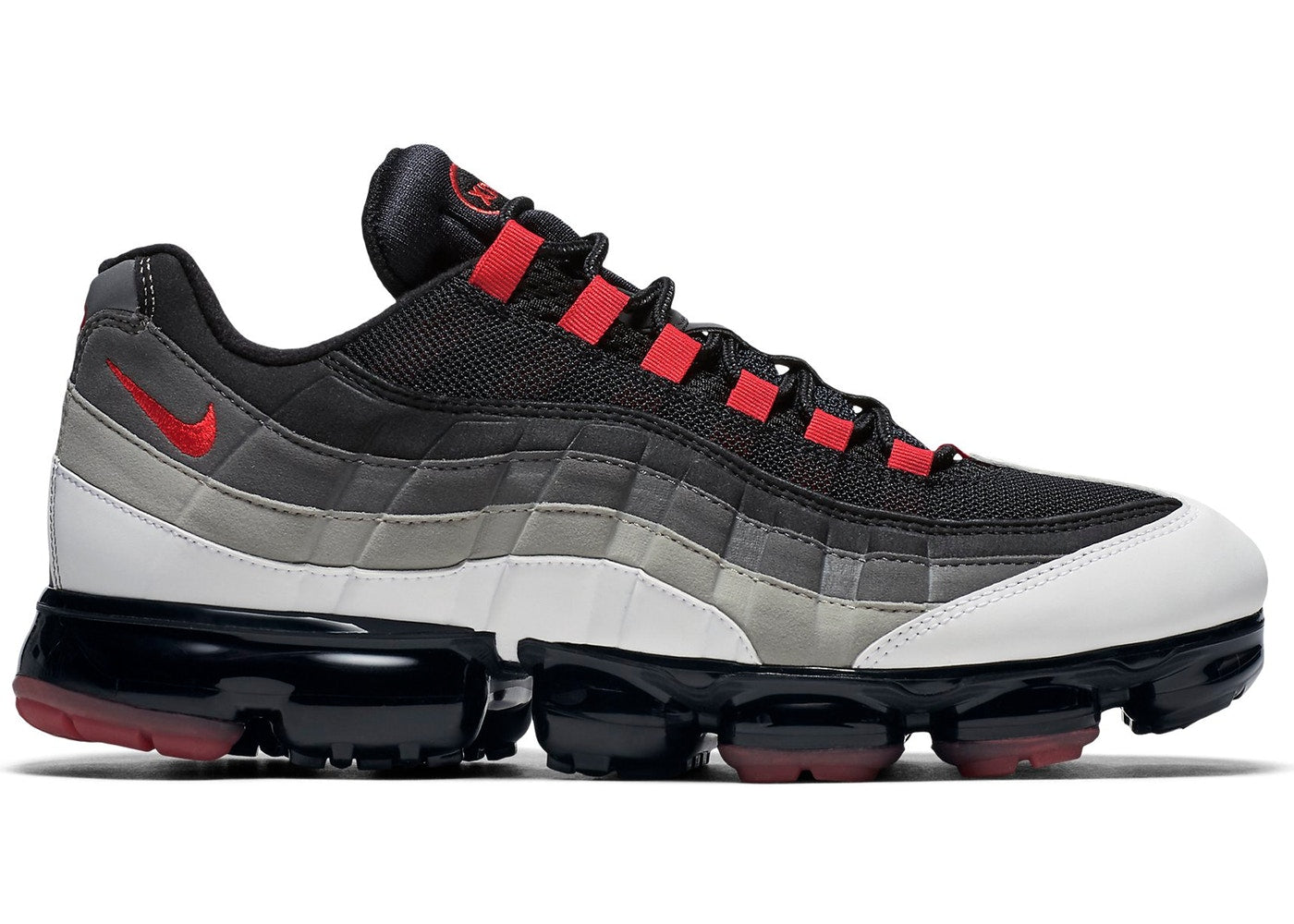 new concept a23f4 63dd6 Details about Mens Nike Air VaporMax 95 Comet Hot Red White Dark Pewter  Granite AJ7292-101