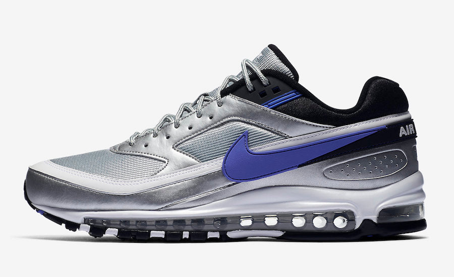 reputable site c75a3 d58b4 Details about Mens Nike Air Max 97 BW Persian Violet Metallic Silver Black  White AO2406-002