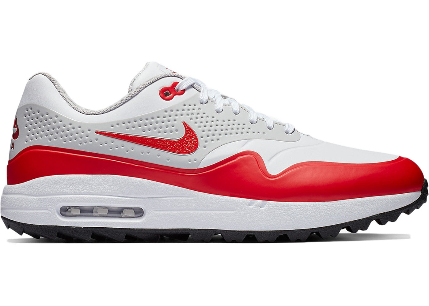 Men's Nike Air Max 1 Ultra 2.0 Limited Edition Shoes White University Red Neutral G