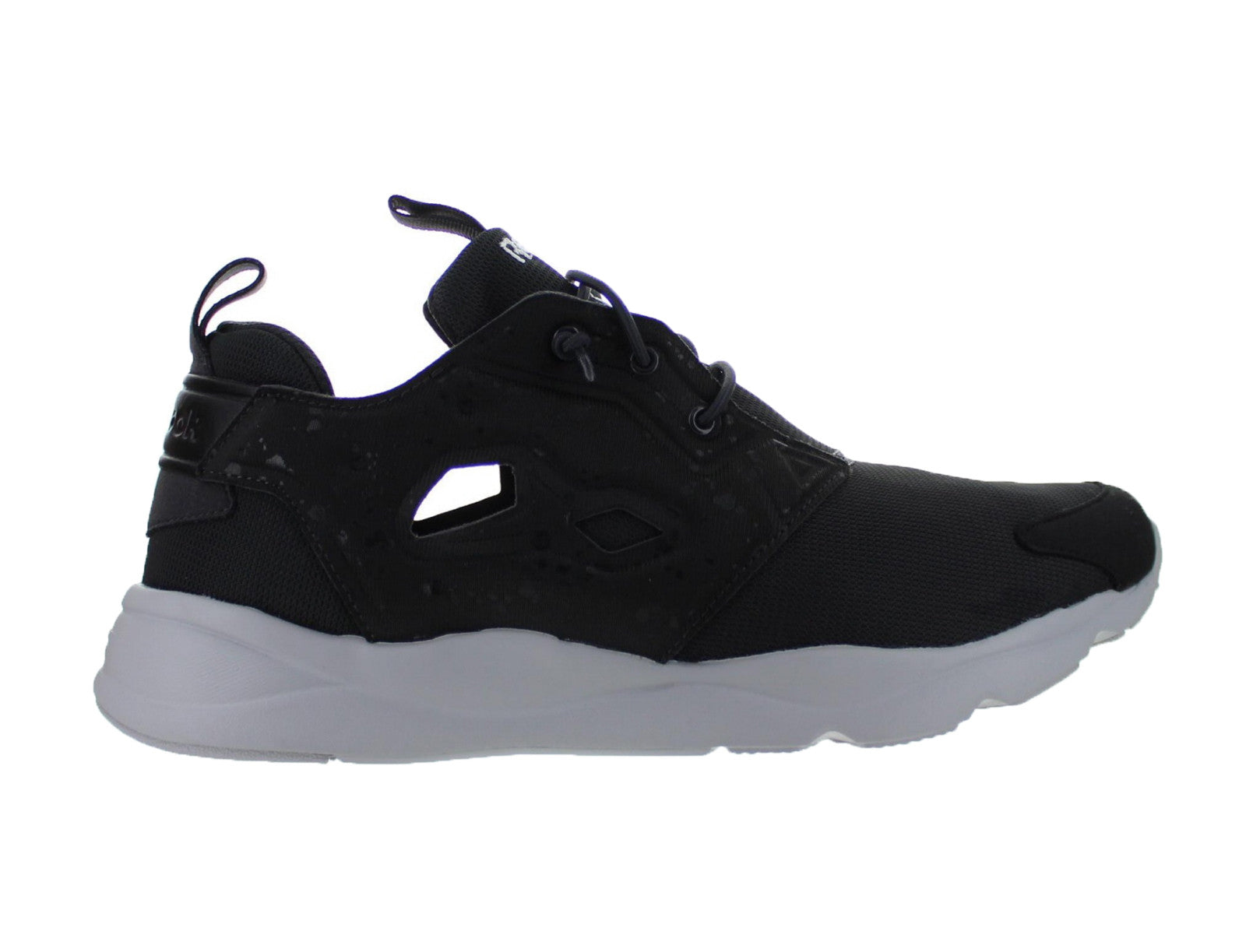 8e2210904a9b1 Mens Reebok Furylite SP Coal Black Steel White AQ9954