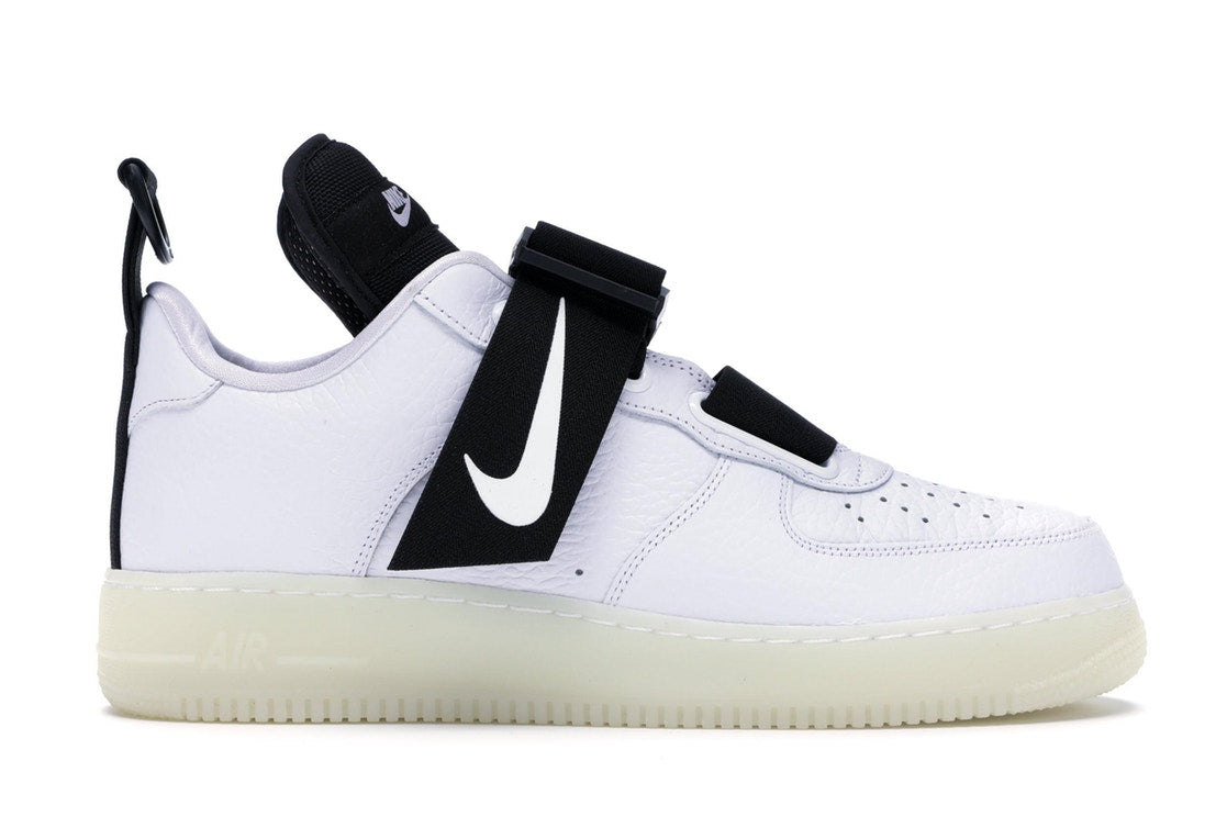 Details about Mens Nike Air Force 1 Low Utility QS White Black AV6247 100