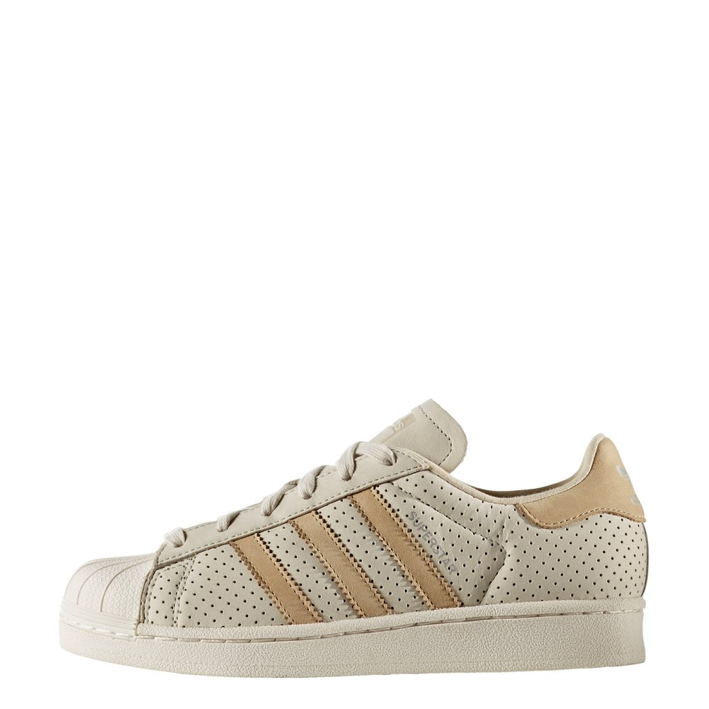 adidas Shoes – Superstar Fashion J brownkhakiwhite