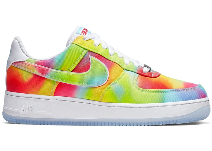 Details about Nike Air Force 1 '07 Low Premium Tie Dye Summer Of Peace Multicolor CK0838 100